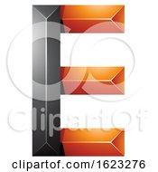 Black And Orange Geometric Letter E