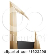 Black And Beige Or Gold Arrow Shaped Letter C