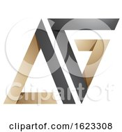Black And Beige Folded Triangular Letters A And G
