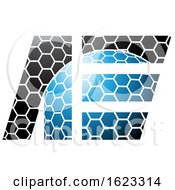 Blue And Black Honeycomb Patter Letters A And E