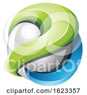 Poster, Art Print Of Green And Blue Sphere