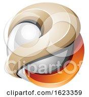 Poster, Art Print Of Orange And Beige Sphere