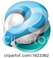 Poster, Art Print Of Blue And Turquoise Sphere