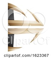 Beige Or Gold And Black Bow And Arrow