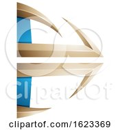 Beige Or Gold And Blue Bow And Arrow
