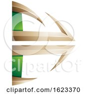 Beige Or Gold And Green Bow And Arrow