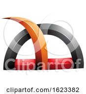 Black Red and Orange Grass like Spike by cidepix #COLLC1623382-0145