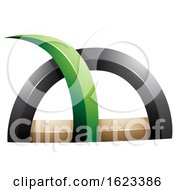 Green Black and Beige Spiky Grass like Shape by cidepix #COLLC1623386-0145