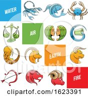 Poster, Art Print Of Sketched Colorful Zodiac Signs