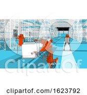 Generative Automation 3D Illustration
