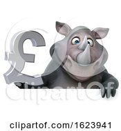 3d Rhinoceros On A White Background by Julos