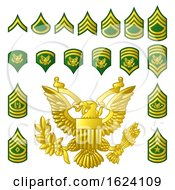 Poster, Art Print Of Military Army Enlisted Ranks Insignia