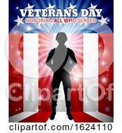 Poster, Art Print Of Soldier American Flag Veterans Day Design