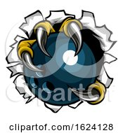 Poster, Art Print Of Bowling Ball Eagle Claw Talons Tearing Background