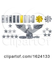 Poster, Art Print Of Army Military Officer Insignia Ranks