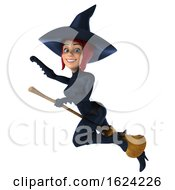 3d Sexy Blue Witch On A White Background by Julos