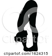 Yoga Pilates Pose Woman Silhouette