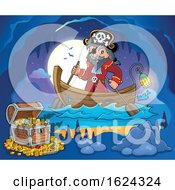 Pirate Captain In A Boat