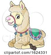 Cute Llama by visekart