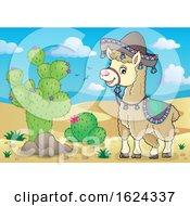 Cute Llama Wearing A Sombrero