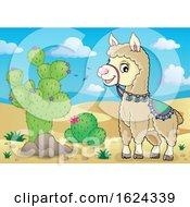 Cute Llama In A Desert by visekart