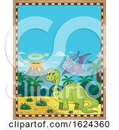 Dinosaur Parchment Border