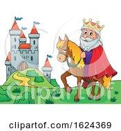 Horseback King Near A Castle