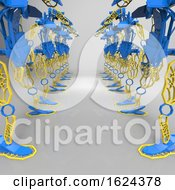 3D Generative Design Of A Robot 3D Illustration