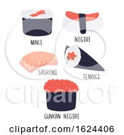 Sushi Types Illustration