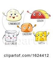 Mascot Kinds Cheese Illustration
