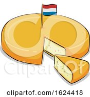 Poster, Art Print Of Netherlands Dutch Gouda Cheese Illustration