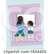Kids Girl Sisters Read Book Illustration