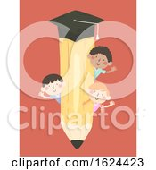 Kids Pencil Education Illustration