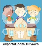 Kids Pottery Class Illustration
