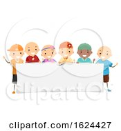 Stickman Kids Alopecia Banner Illustration