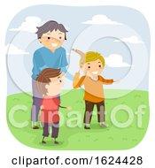 Stickman Kids Boys Learn Boomerang Illustration by BNP Design Studio