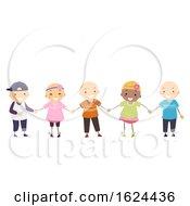 Poster, Art Print Of Stickman Kids Girl Boy Alopecia Illustration