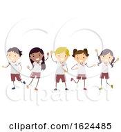 Stickman Kids Uniforms Illustration