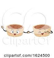 Mascot Food Canada Butter Tarts Illustration