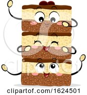 Mascot Food Canada Nanaimo Bars Illustration