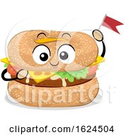Poster, Art Print Of Mascot Food Bagel Burger Illustration