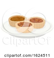 Butter Tarts Pastry On Plate
