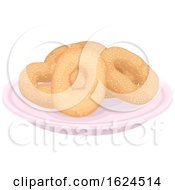 Montreal Style Bagels On Plate