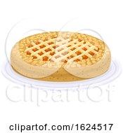 Linzer Torte Austrian Tart On Plate