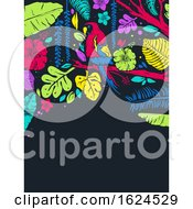 Stencil Tropical Parrot Background Illustration