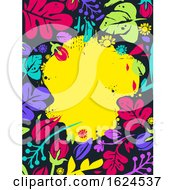 Floral Tropical Frame Background Illustration