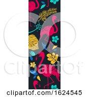 Tropical Vertical Banner Border
