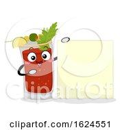 Mascot Canada Caesar Drink Board Illustration