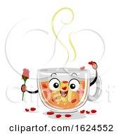 Poster, Art Print Of Mascot Drinks Canada Rose Tea Illustration