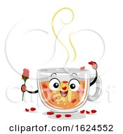 Mascot Drinks Canada Rose Tea Illustration